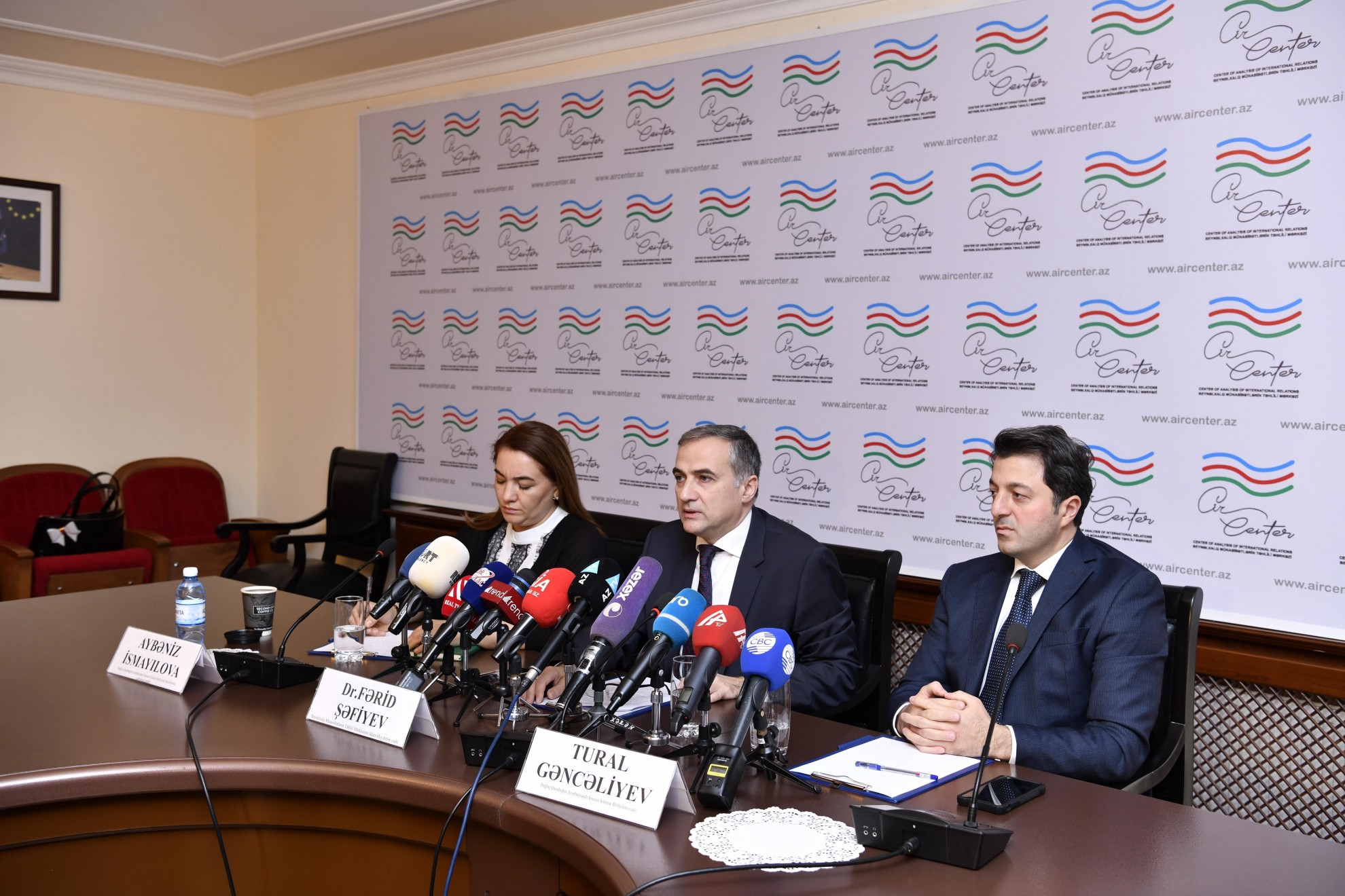 Farid Shafiyev held a press conference on the results of his visit to Brussels