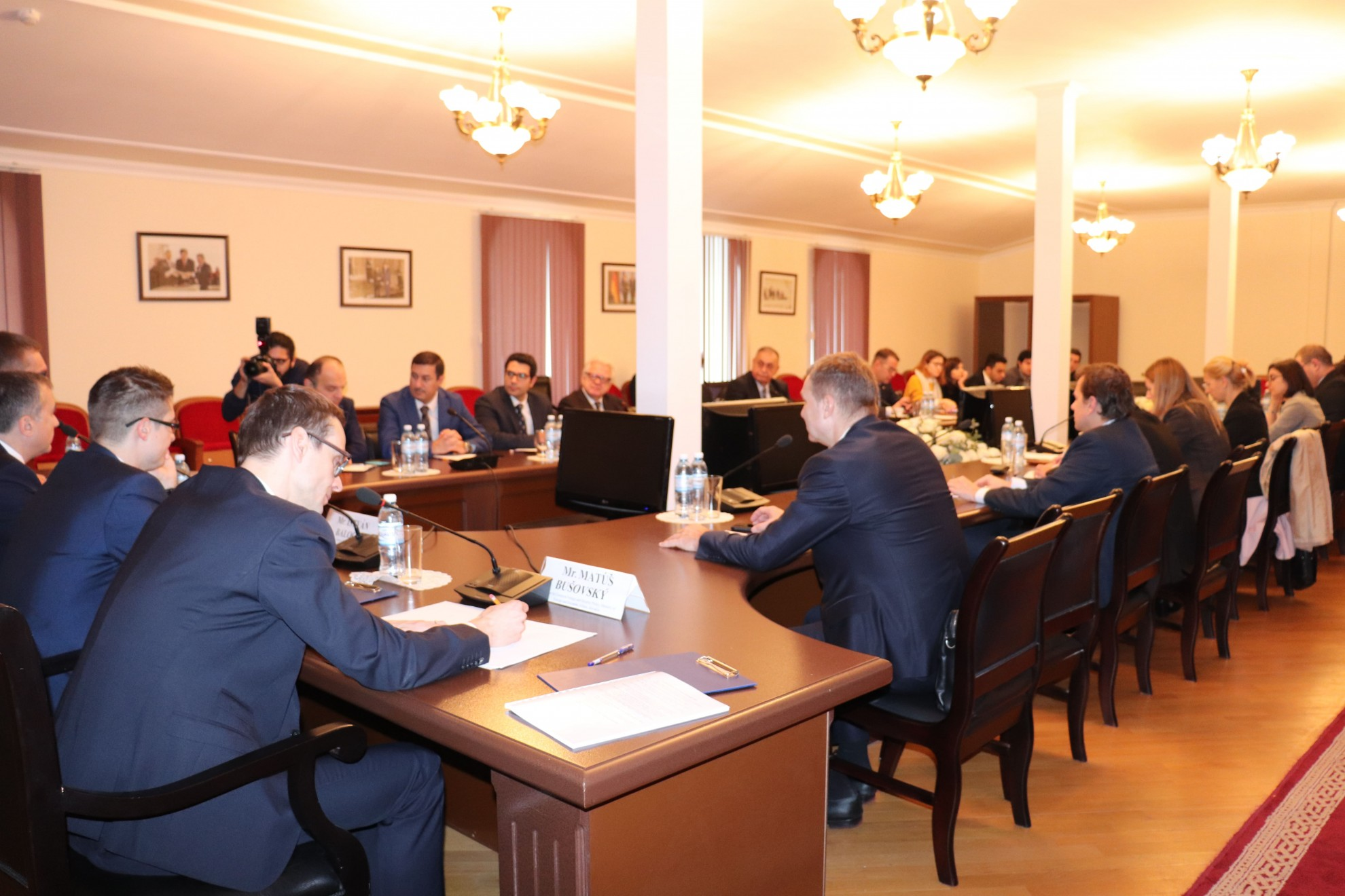 Round Table with Delegation from Visegrad Group Countries Held at AIR Center